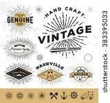 Vintage Sunburst Logo And Labe...