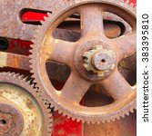 old rusty cogs for heavy... | Shutterstock . vector #383395810