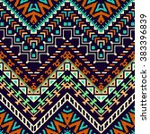 seamless hand drawn chevron... | Shutterstock .eps vector #383396839
