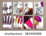 set of brochure  poster design... | Shutterstock .eps vector #383400088
