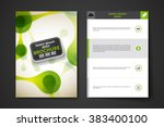 set of brochure  poster design... | Shutterstock .eps vector #383400100