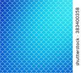 blue roof tiles pattern ... | Shutterstock .eps vector #383400358