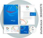 corporate identity design... | Shutterstock .eps vector #383400970