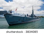 U.S.S. Bowfin. a WWII submarine in Pearl Harbor, Hawaii - stock photo