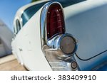 old vintage white veteran car... | Shutterstock . vector #383409910