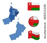 high detailed map of oman with... | Shutterstock .eps vector #383412100
