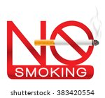 no smoking sign with cigarette... | Shutterstock .eps vector #383420554