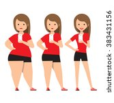 stages weight loss before and... | Shutterstock .eps vector #383431156