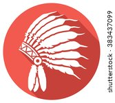 native american indian chief... | Shutterstock .eps vector #383437099