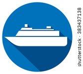 ship icon flat icon   Shutterstock .eps vector #383437138