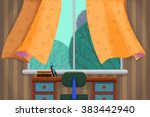 creative illustration and... | Shutterstock . vector #383442940