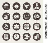 stock exchange icon set   Shutterstock .eps vector #383450620