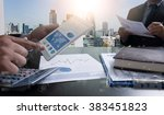 image of businessperson... | Shutterstock . vector #383451823