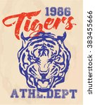 vintage college print design.... | Shutterstock .eps vector #383455666