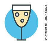 drink colored vector icon | Shutterstock .eps vector #383458036