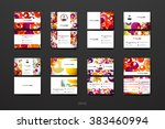 set of design business card... | Shutterstock .eps vector #383460994
