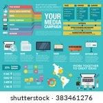 flat design. vector... | Shutterstock .eps vector #383461276
