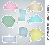 speech clouds of various colors ... | Shutterstock .eps vector #383465098
