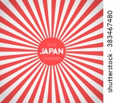 illustration of japan flag... | Shutterstock .eps vector #383467480