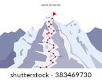 route to the top   career... | Shutterstock .eps vector #383469730