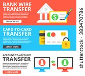 bank wire transfer  card to... | Shutterstock .eps vector #383470786