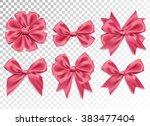 elegant luxary bowtie. web... | Shutterstock .eps vector #383477404