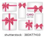 vector set of holiday present... | Shutterstock .eps vector #383477410