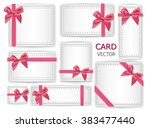 set of holiday present gift... | Shutterstock .eps vector #383477440