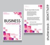 vector brochure flyer design... | Shutterstock .eps vector #383477659