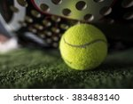 paddle tennis macro wide angle... | Shutterstock . vector #383483140