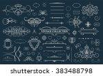 set vintage borders  frame and... | Shutterstock .eps vector #383488798