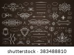set vintage borders  frame and... | Shutterstock .eps vector #383488810