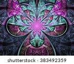 pastel tone fractal flower ... | Shutterstock . vector #383492359
