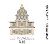 les invalides  paris  france    Shutterstock .eps vector #383495209