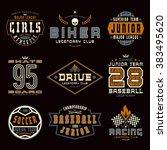 set of sports emblems.... | Shutterstock .eps vector #383495620