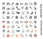 Stock vector pet shop icons 383496706