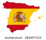 Spain Map  Spain Flag  Vector...