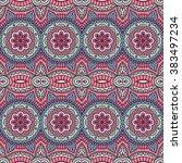 seamless pattern. vintage... | Shutterstock .eps vector #383497234