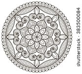 mandala. vintage decorative... | Shutterstock .eps vector #383500084