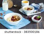 homemade organic granola... | Shutterstock . vector #383500186