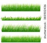 green grass borders set on... | Shutterstock .eps vector #383502436
