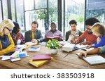diversity people brainstorming... | Shutterstock . vector #383503918