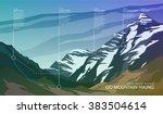 high mountain landscape... | Shutterstock .eps vector #383504614