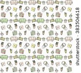seamless vector pastel pattern... | Shutterstock .eps vector #383506618