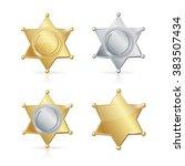 shefiff badge star set.... | Shutterstock .eps vector #383507434