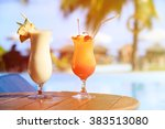 Two Cocktails On Luxury Beach...