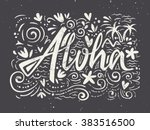 aloha shirts to print. hand... | Shutterstock .eps vector #383516500