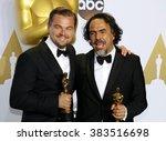 leonardo dicaprio and alejandro ... | Shutterstock . vector #383516698