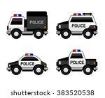 police car set. classic black...
