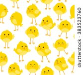 seamless pattern with cute... | Shutterstock .eps vector #383523760
